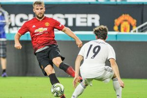 Manchester United fullback Luke Shaw champing at the bit for Premier League to get underway