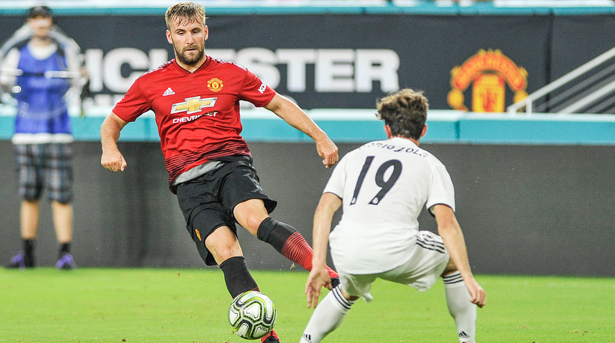Luke Shaw, Manchester United F.C., Premier League, 2018/19 Season, Manchester United vs Leicester City, Manchester United vs Real Madrid