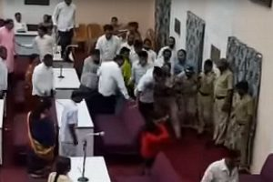 Corporator arrested for opposing condolence motion on Vajpayee