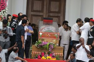 Rajaji Hall to Marina beach: Karunanidhi's last journey