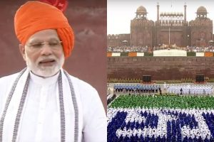Independence Day | PM Modi unfurls national flag at Red Fort, greets nation