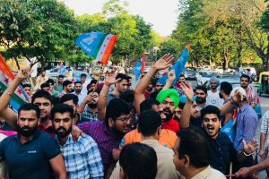 Attack on Rajasthan NSUI chief Abhimanyu Puniya, candidate