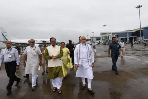PM Modi reaches Gujarat to attend Somnath temple trust meet, other events