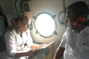 Kerala floods: Rajnath Singh conducts aerial survey, CM Vijayan says 33 dead