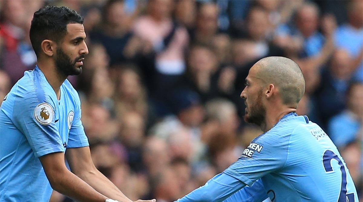 Benjamin Mendy, David Silva, David Silva Son, Manchester City F.C., Premier League, Twitter, Mateo Silva, Manchester City vs Huddersfield Town, Riyad Mahrez