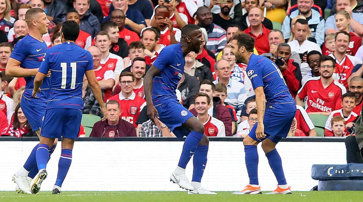 Ross Barkley, Pedro, Antonio Rudiger, Cesc Fabregas, Chelsea F.C., Premier League, Chelsea vs Arsenal