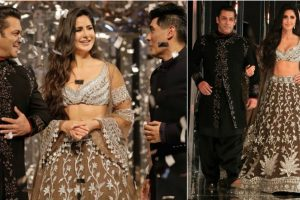 Salman Khan, Katrina Kaif dazzled ramp of Manish Malhotra's bridal couture