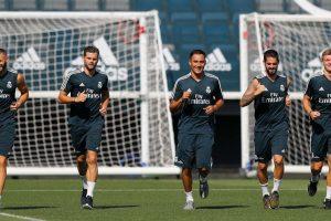 Real Madrid resume training after victorious La Liga opener