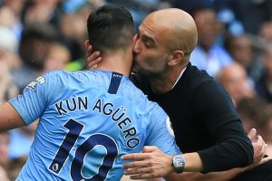 Guardiola rates City star Aguero ahead of Salah