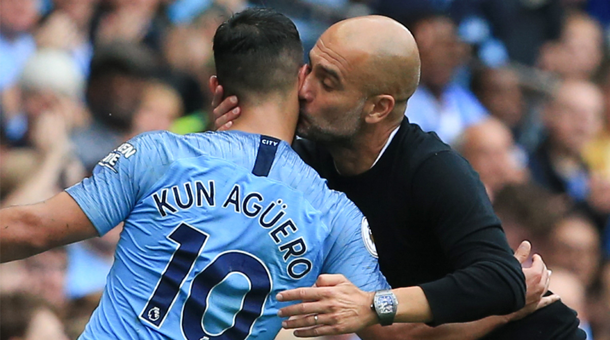 Sergio Aguero, Manchester City F.C., Premier League, Manchester City News, Twitter, Twitter Video, Training Goal, Training Video, Sergio Aguero Goal, Sergio Aguero Video, Manchester City Training, Pep Guardiola