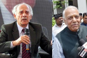 Rafale biggest defence scandal, say Yashwant Sinha and Arun Shourie