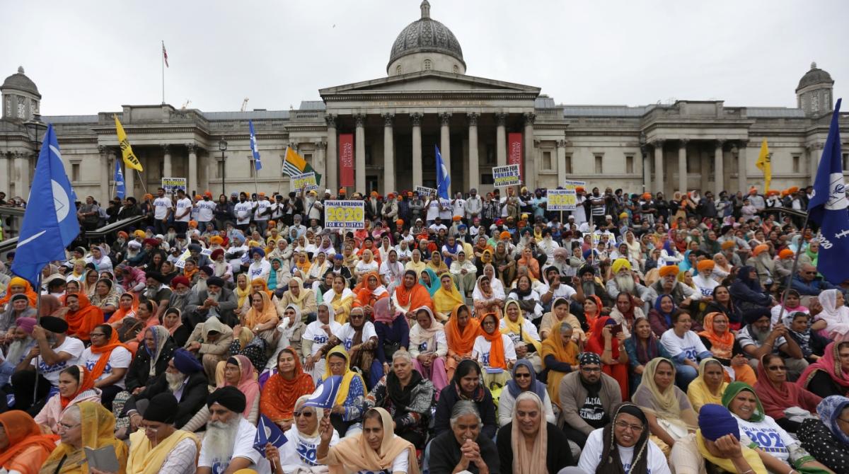 Sikh protest London