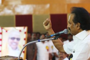 In first speech, DMK president Stalin targets Modi government