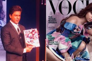 Shah Rukh Khan unveils Suhana Khan's Vogue cover; he isn't proud of her yet
