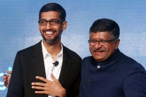 Prasad meets Pichai, seeks Google's involvement in empowering Indians