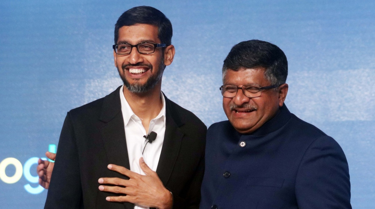IT Minister, Ravi Shankar Prasad, Digital Village, Sundar Pichai, Google, Google India,