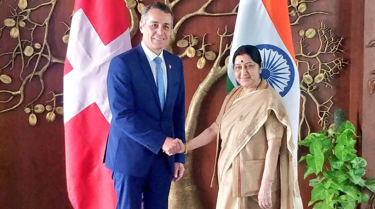 black money, India-Switzerland, India-Switzerland ties, External Affairs Minister, Sushma Swaraj, Swiss Foreign Minister, Ignazio Cassis
