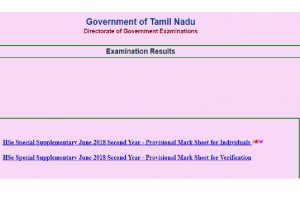 Tamil Nadu TN HSC results 2018 for Plus One (+1) supplementary exam declared at dge.tn.nic.in | Check now