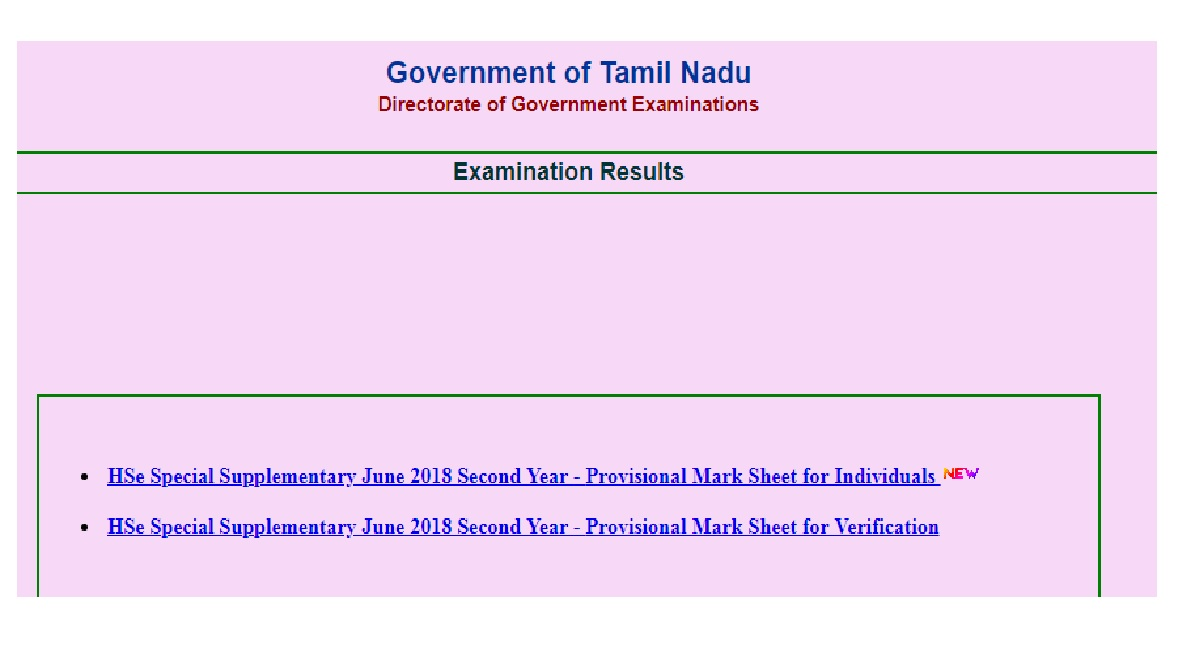 Tamil Nadu, TN HSC, TN HSC results 2018, HSC Plus One, supplementary, dge.tn.nic.in