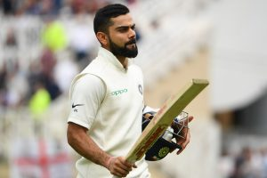Kohli completes ton as India amass 506/5 at lunch on Day 2