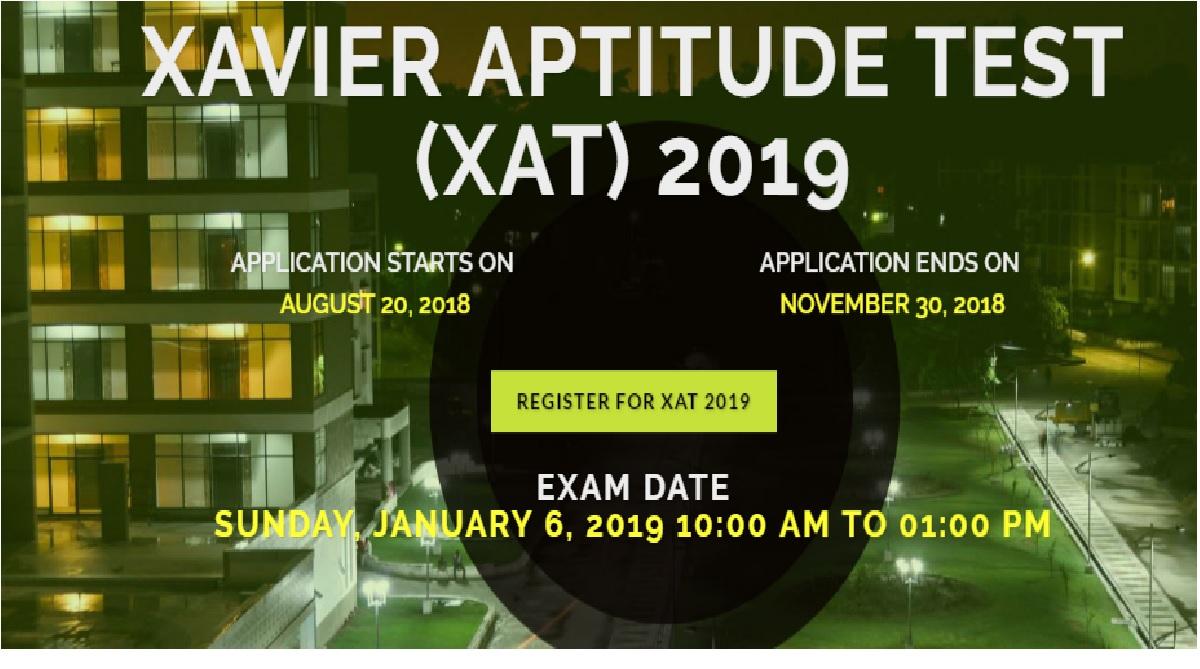 Xavier Aptitude Test 2019, www.xatonline.in, XLRI, official website, register online, Application, Fees, Eligibility