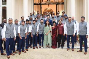 'Vice-captain Ajinkya Rahane in last row, first lady Anushka Sharma in front row'| Twitter slams BCCI
