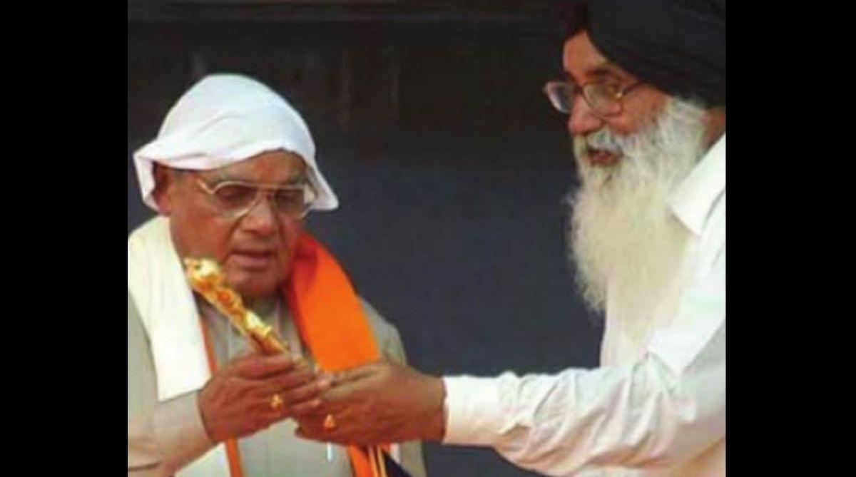 Atal Behari Vajpayee, Parkash Singh Badal, Shiromani Akali Dal, statesmen