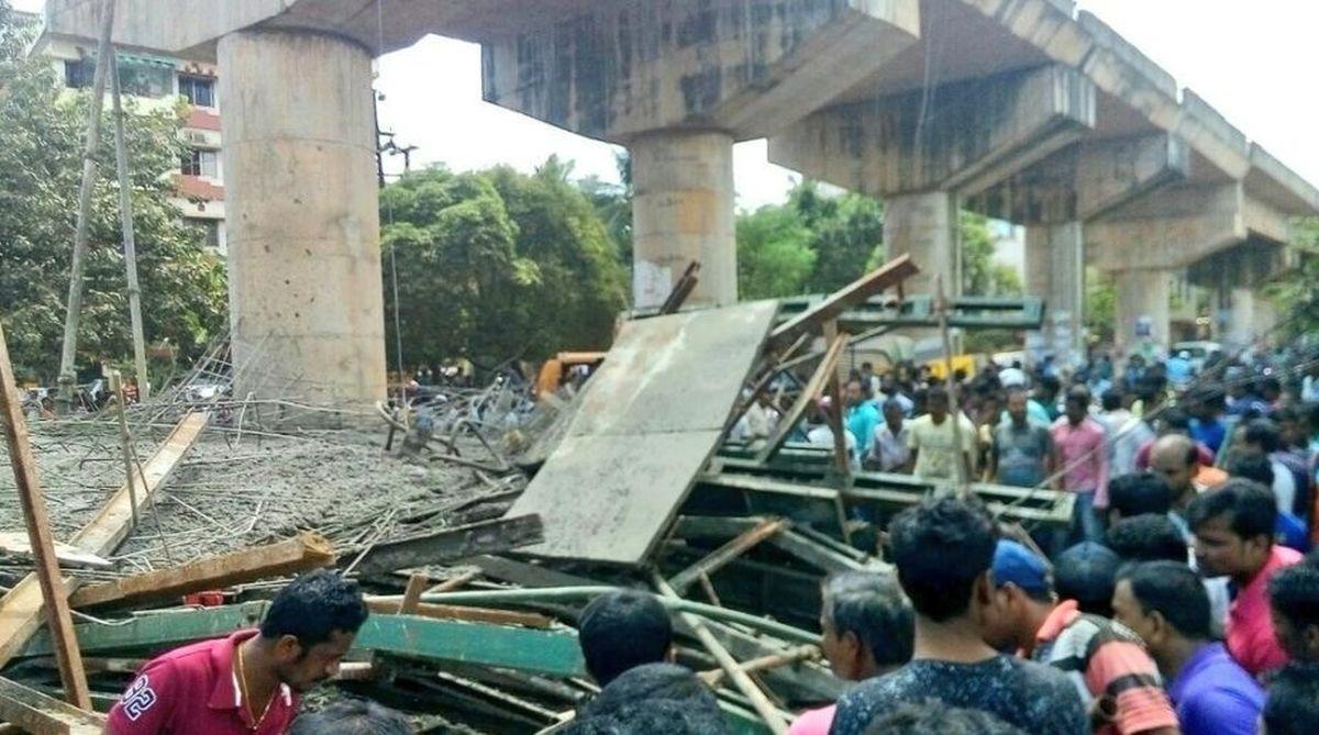 flyover collapse, Phansidewa, NHAI, Larsen & Toubro, Bengal, Siliguri Mahakuma Parishad