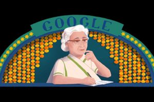 Google remembers renowned  Urdu writer Ismat Chughtai with a doodle