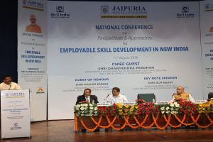Jaipuria School of Business hosted National Conference ; attended by Shri Dharmendra Pradhan