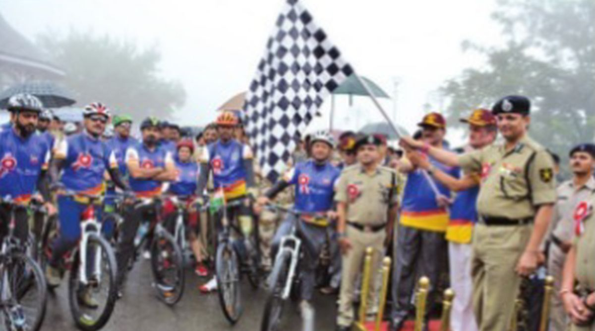 Para-cycling expedition, Infinity Ride~2018, Kamal Nayan Choubey,Border Security Force,BSF Mahila Praharis