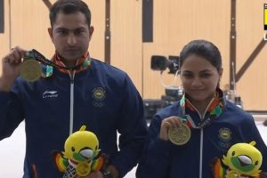 India win mixed air rifle bronze, open Asiad account