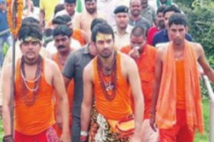 Dressed as Shiva, son goes on pilgrimage for ailing Lalu