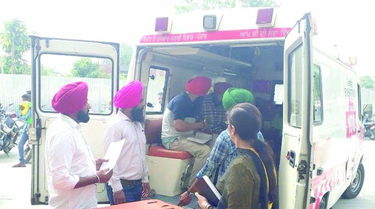 108 Ambulance service, Punjab, life saving drugs, Punjab Vigilance Bureau,BK Uppal, oxygen cylinder