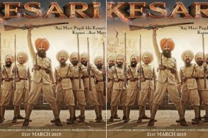 Akshay Kumar is war ready in Kesari poster