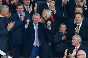 'Welcome back': Alex Ferguson at Manchester United for first time since brain op