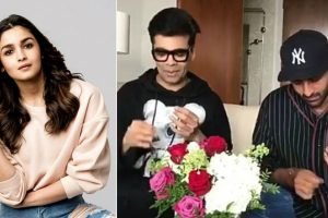 Watch: Ranbir Kapoor, Karan Johar accept Alia Bhatt's 'Sui Dhaaga' challenge