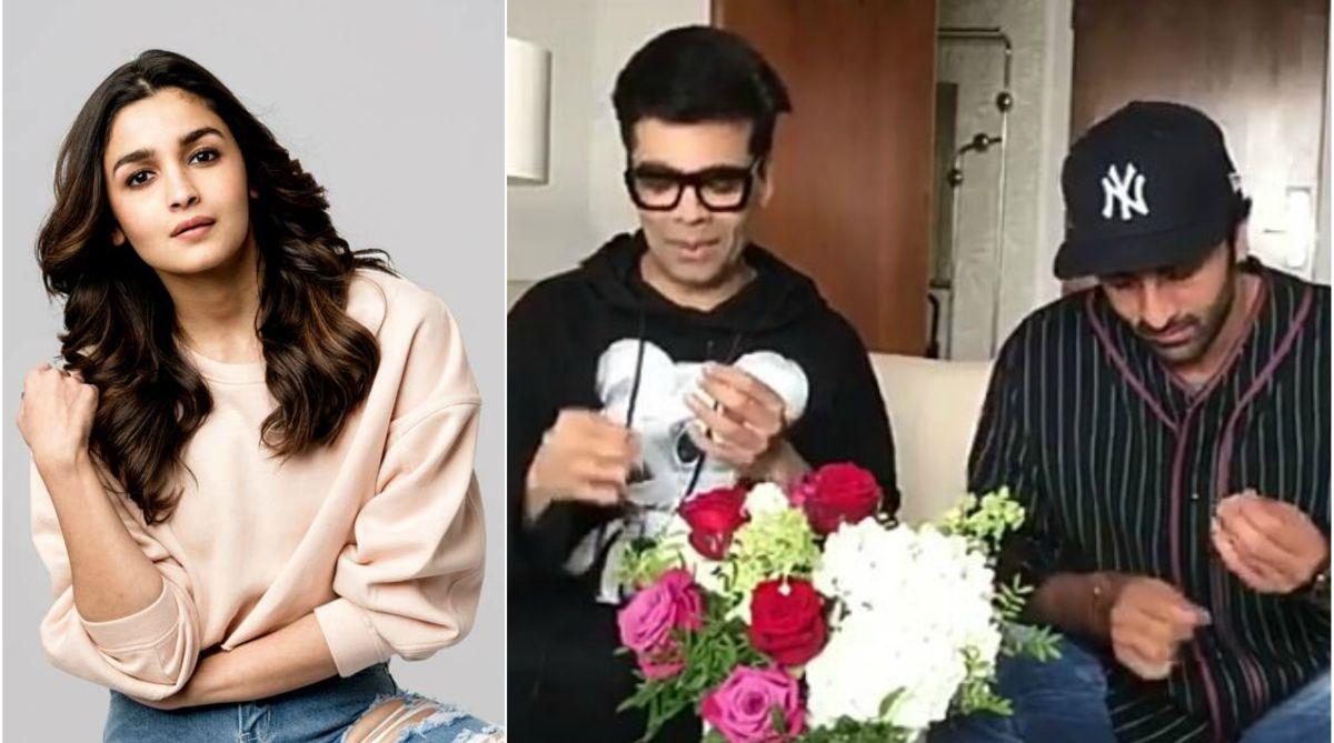 Alia Bhatt, Karan Johar, Ranbir Kapoor