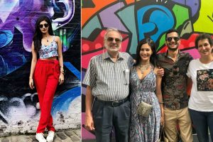 Amyra Dastur spends some family time in London