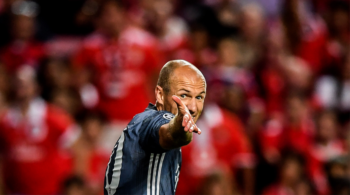 Arjen Robben, F.C. Bayern Munich, Bundesliga, UEFA Champions League, Arjen Robben Skill, Twitter, Twitter Video, Bayern Munich vs Benfica, Benfica vs Bayern Munich