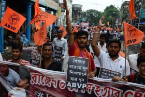Bengal town tension: ABVP burns Mamata Banerjee's effigy