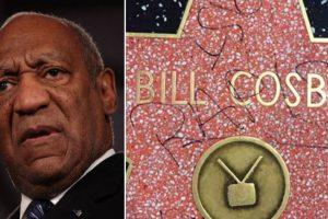 Bill Cosby's walk of fame star damaged
