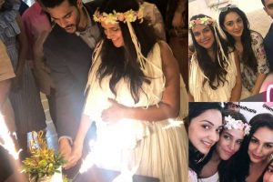 Bollywood celebrities bless Neha Dhupia at her baby shower