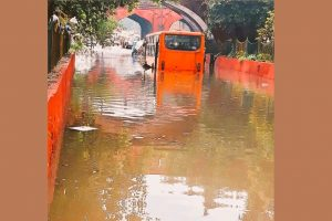 Delhi rains: 30 rescued from bus stuck in waterlogged street