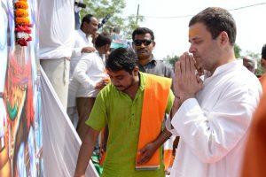 In Amethi, saffron clad kanwarias welcome 'Shiv Bhakt' Rahul Gandhi