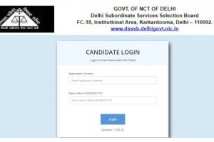 DSSSB PRT Admit Card/Hall Ticket 2018 available online at dsssbonline.nic.in | Download now