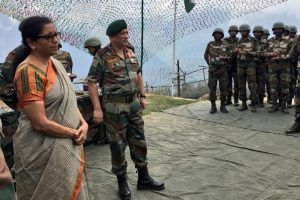 Nirmala Sitharaman visits forward post along LoC, meets J-K Governor