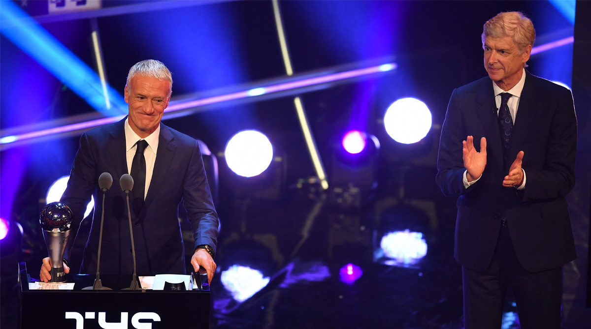Didier Deschamps, FIFA Best, Best Coach of the Year, France Football, 2018 FIFA World Cup, FIFA World Cup 2018, Arsene Wenger