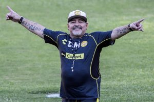 Diego Maradona arrives to coach 2nd league Mexican team