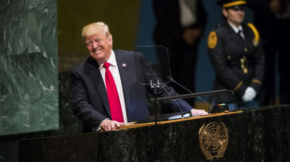 Donald Trump, US President, Donald Trump UNGA, Donald Trump laughing, fake news